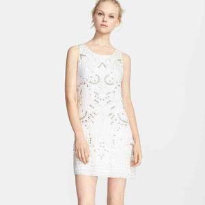 ALICE OLIVIA Jane Embellished Silk Dress IVORY #2